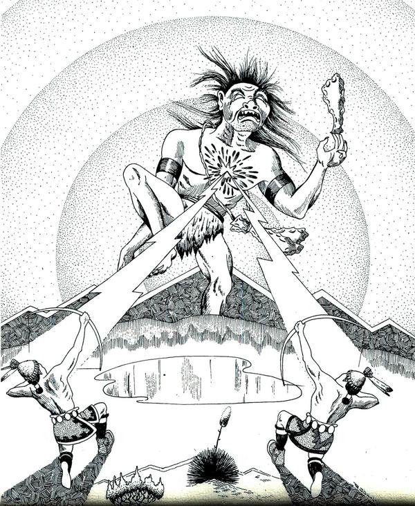 Les Jumeaux tuent le monstre Ye'iitsoh avec leurs flèches éclairs.