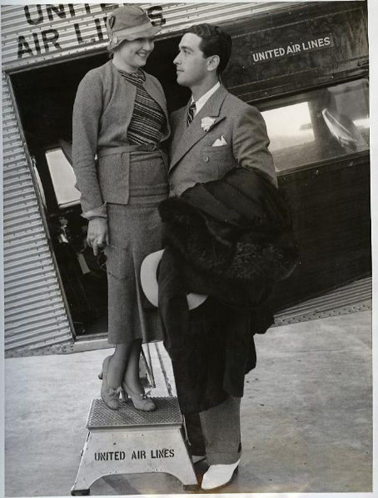 Thelma Todd au temps de l'amour avec son ex-mari Pat di Cicco dit Sicko, le fou.